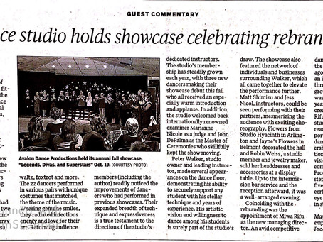 Newspaper Article: Showcase Celebrating Rebranding