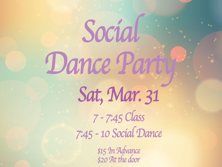 Social Dance Party in March