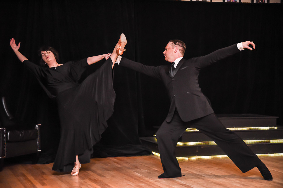 Jennifer Courtney, our student dances with Peter Walker, Avalon owner