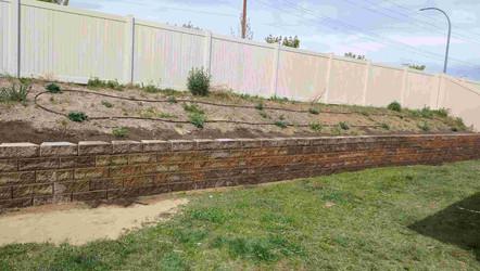 Retaining wall installation in north idaho