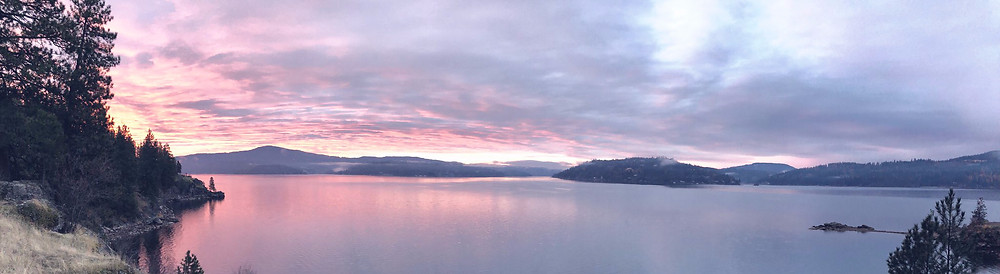 Tubbs Hill at sunset, Coeur D'alene