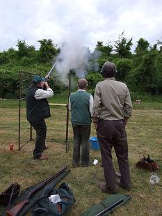 Club members at a clay target shoot