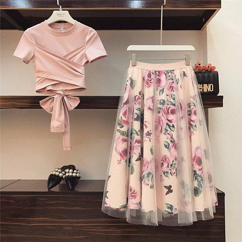 Vintage Floral Skirt Sets