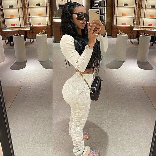 Two Piece  Long Sleeve Tracksuits Women Set