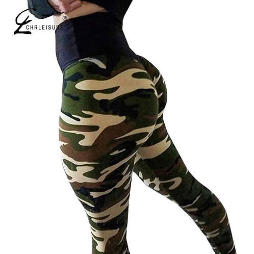 CHRLEISURE Women Camouflage Leggings