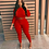Thumbnail: Women Long Sleeve Crop Top and Pants Bodycon Two Piece Outfits