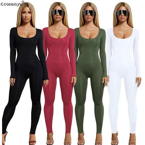 Sexy  Long Sleeve Women Jumpsuit