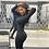 Thumbnail: CNYISHE 2020  Women Regular Long Sleeve Casual Black Maxi Dress