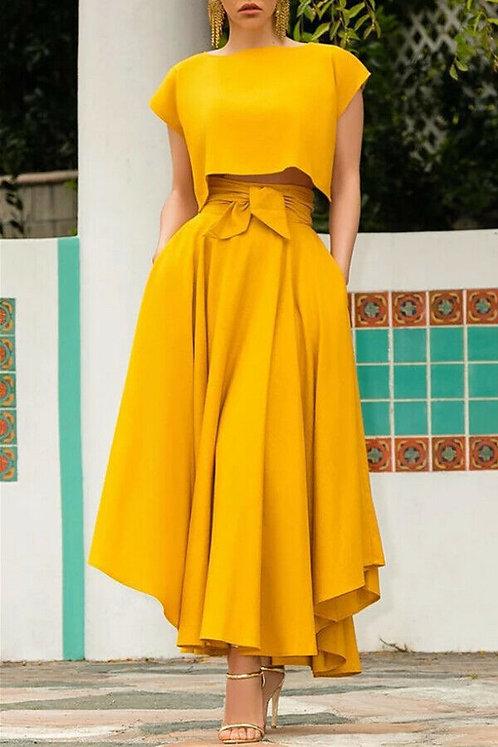 Hot Fashion Women's Vintage High Waist Skirt