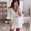 Thumbnail: Summer 2021 Mesh Tulle Mini White Floral Lace Dress