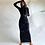 Thumbnail: Hugcitar 2020 Long Sleeve Hooded Patchwork Skinny Maxi Dress