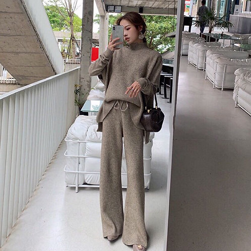 Winter Women Sweater Suits and Sets