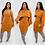 Thumbnail: Two Piece Set Short Turtleneck Sweater Jumper Pullovers Matching Set