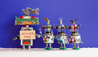 join-our-team-concept-four-funny-robots-