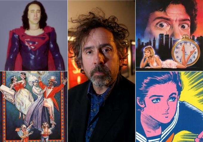 """Les Ombres de Tim Burton ont plusieurs formes : """"Superman Lives"""" au visage de Nicolas Cage, """"Geek Love"""" (dont on ne parlera pas ici), """"After Hours"""" (projet du temps où le jeune Burton travaillait pour les Studios Disney, qui a été finalement concrétisé par Martin Scorsese), ou """"Mai, la Fille Psychique""""..."""