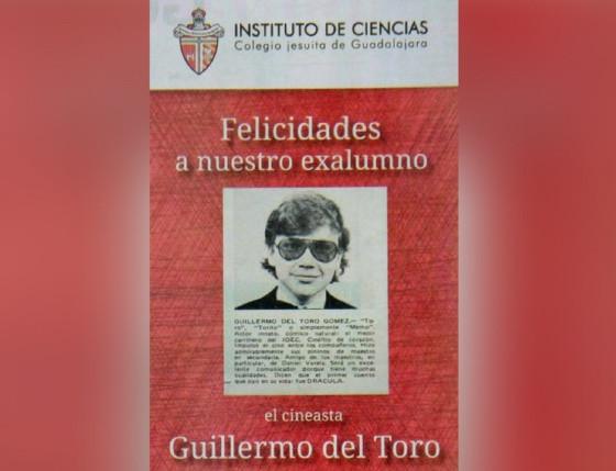 Affiche exposée dans les locaux de l'Instituto de Ciencias de Guadalajara, en l'honneur de l'élève prodige qui y a passé sa scolarité...