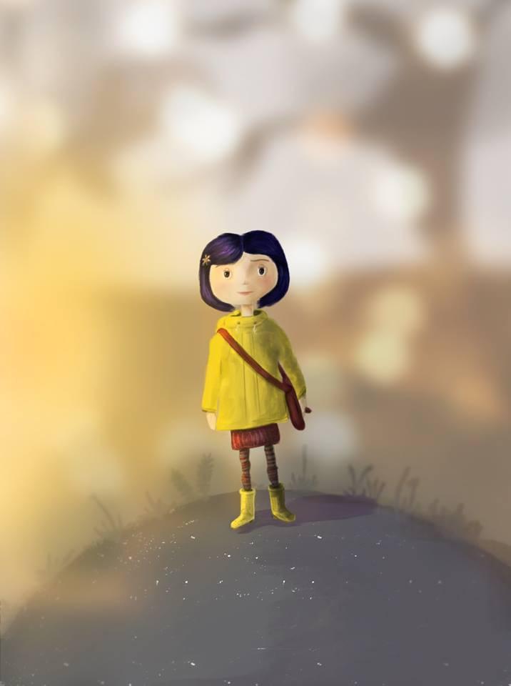 """Illustration de """"Coraline"""", par Lisa Fournier. Vous pouvez découvrir d'autres de ses superbement folles créations prometteuses sur sa page Farcebook : """"Lizzy Illustration"""" !"""