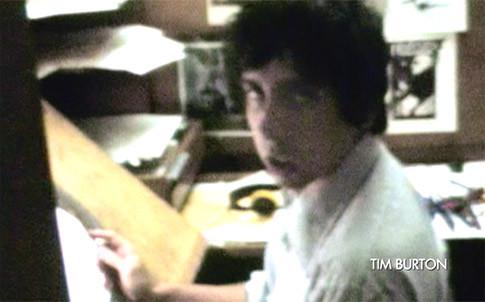 Tim Burton travaillant aux studios Disney...