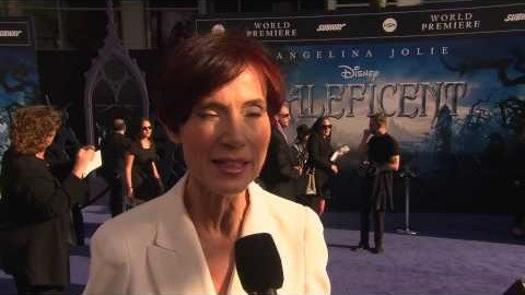 """Linda Woolverton, à la Première de """"Maleficent""""."""