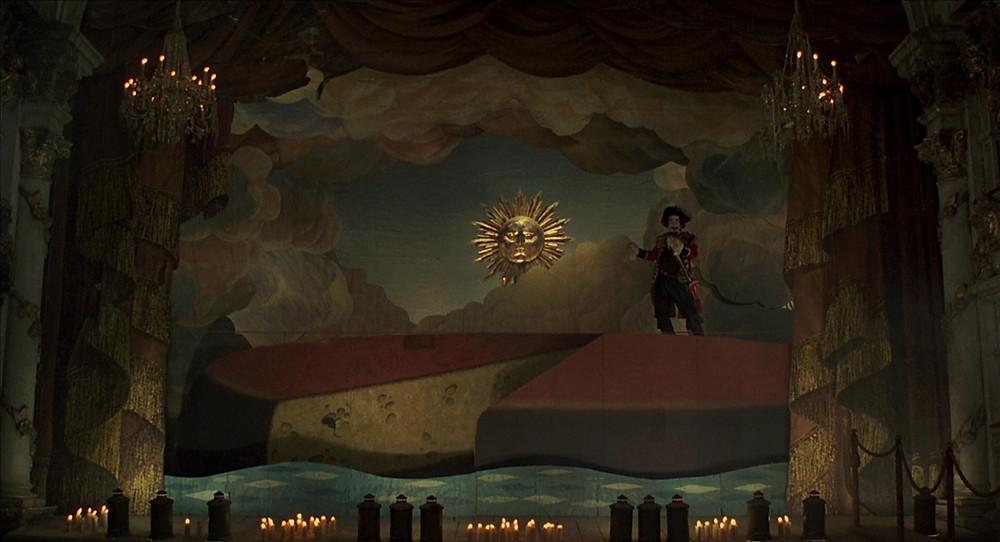 Le Baron de Münchhausen, naviguant sur un camembert géant... L'imagination d'un artiste n'a aucune limite...!