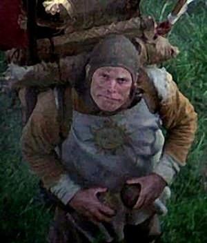 Terry Gilliam, en caméo incognito, sous les traits d'un vassal du Roi Arthur...