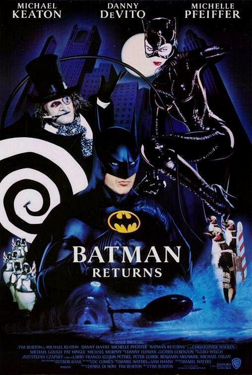 """Affiche de """"Batman Returns"""", alias """"Batman le Défi""""."""
