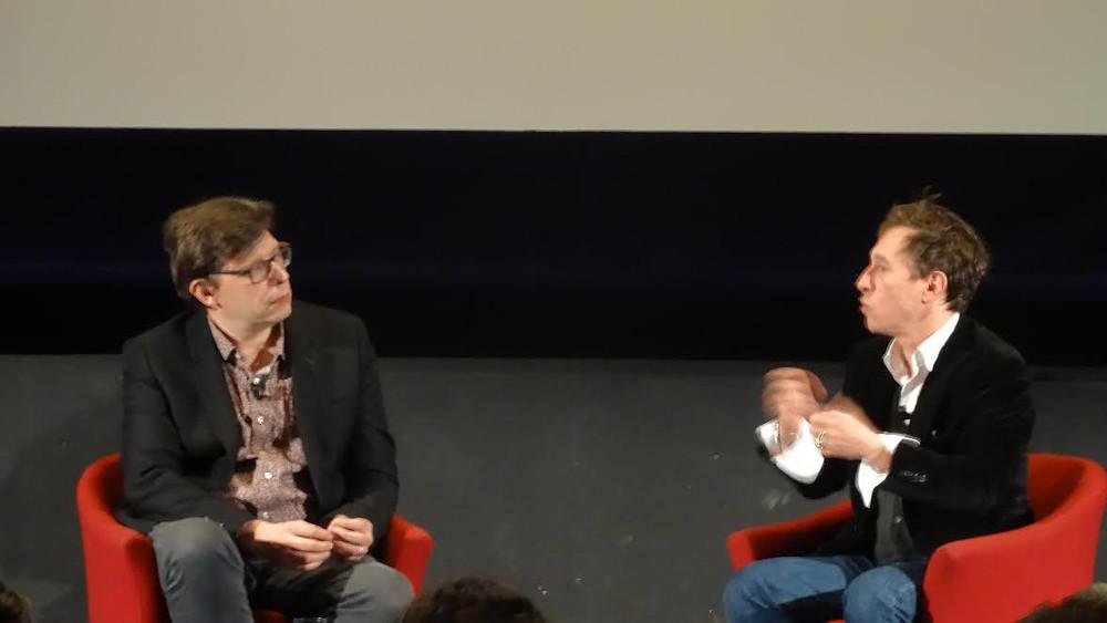 A gauche, Philippe Rouyer ; à droite, évidemment, Bertrand Bonello.