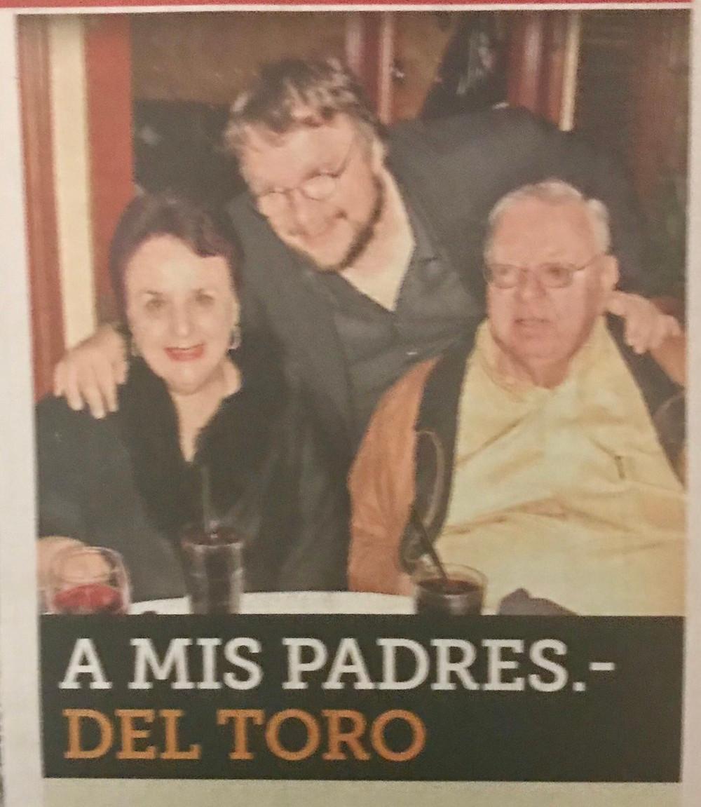 Guillermo Del Toro et ses parents...