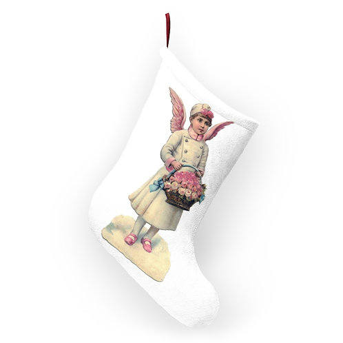 Pink Angel Christmas Stocking