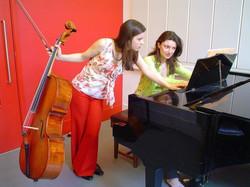 Evva and Emma at Trinity CM