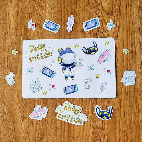 Corona Frog Raddle Sticker Sheet