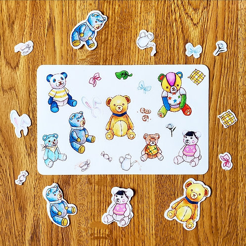 Villager Teddy Bear Sticker Sheet