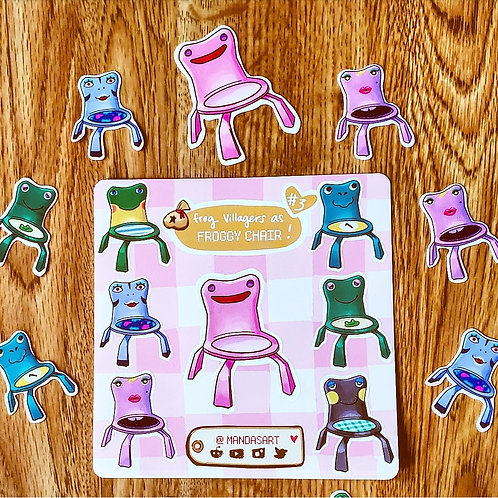 Froggy Chair As Frog Villagers Series 3