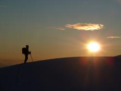 Sunset mountaineer