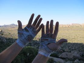 Tired hands, Joshua Tree National Park, USA