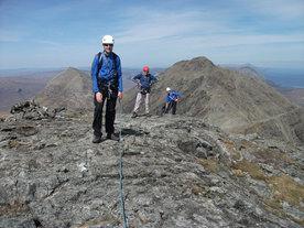 Ridge Scrambling on Clach Glas Blabheinn, Isle of Skye, Scotland