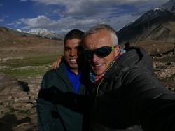 Martin smiling with Chetan, Himalaya