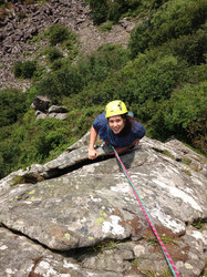 Multi pitch climbing in North Wales