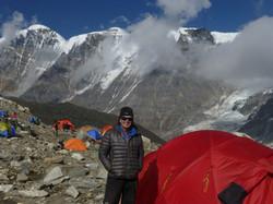 Martin Moran at base camp Himalaya