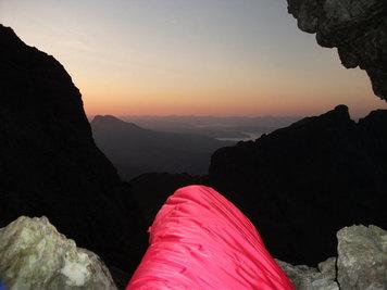 An overnight cave bivi on a traverse of the Cullin Ridge, Isle of Skye, Scotland