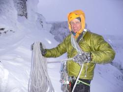 Martin climbing The Storr