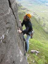 Rock climbing in Torridon, North West Highlands, Scotland