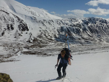 Ski touring and mountaineering in the Cairngorms National Park, Scotland