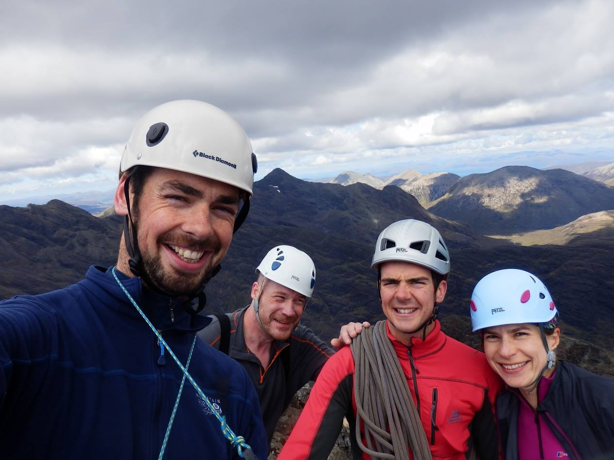 Guy Steven and team on Cuillin