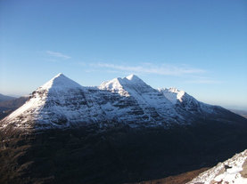 Liathach in it's winter coat, North West Highlands, Scotland