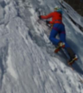 Ice climbing beginner