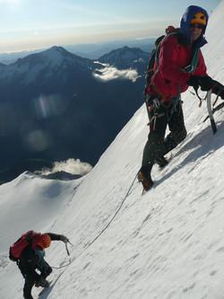 Martin Moran climbing on snow slope