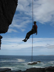 Absailing at Reiff, North West Highlands, Scotland
