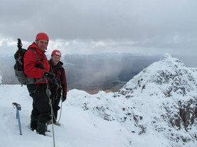 Winter Mountaineering in Glen Coe, Scotland