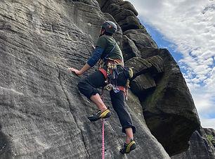 rock climbing peak district